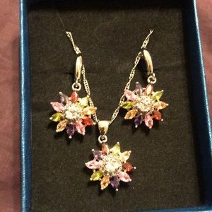 Set earrings necklace ring size8